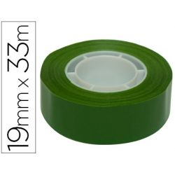 CINTA ADHESIVA APLI 33 MT X 19 MM COLOR VERDE