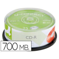 CD-R Q-CONNECT CAPACIDAD 700MBDURACION 80MIN VELOCIDAD 52X BOTE DE 25 UNIDADES