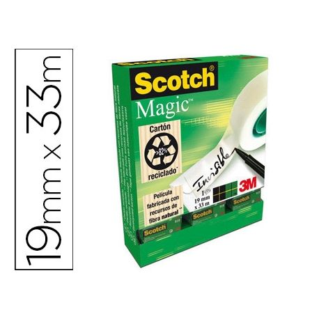 CINTA ADHESIVA SCOTCH MAGIC INVISIBLE 19X33M