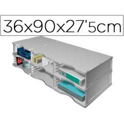 ARCHIVADOR MODULAR ARCHIVODOC TRIO JUMBO CON 6 CASILLAS 360X900X275 MM