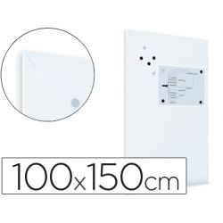 PIZARRA ROCADA MAGNETICA BLANCA CON SISTEMA SKI WHITEBOARD 100X150 CM