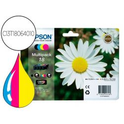 INK-JET EPSON MULTIPACK T1806 NEGRO AMARILLO CIAN Y MAGENTA XP-102 PX-202 PX-205XP-305 XP-405