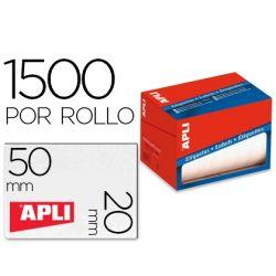 ETIQUETA ADHESIVA APLI 1686 TAMAŸO 20X50 MM EN ROLLO DE 1500 UNIDADES
