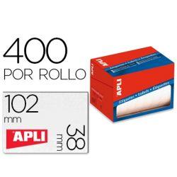 ETIQUETA ADHESIVA APLI 1698 TAMAŸO 38X102 MM EN ROLLO DE 400 UNIDADES