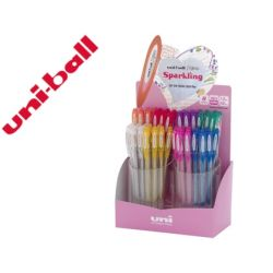 BOLIGRAFO UNI BALL UM-120 SIGNO 0,7 MM TINTA GEL CON PURPURINA
