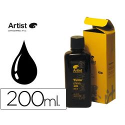 TINTA CHINA ARTIST NEGRA FRASCO 200 ML