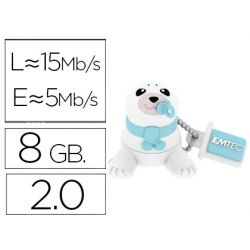 MEMORIA USB EMTEC FLASH 8 GB 2.0 ANIMALS BEBE FOCA
