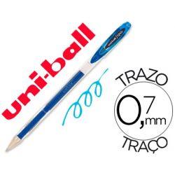 BOLIGRAFO UNI-BALL ROLLER UM-120 SIGNO 0,7 MM TINTA GEL COLOR AZUL CLARO