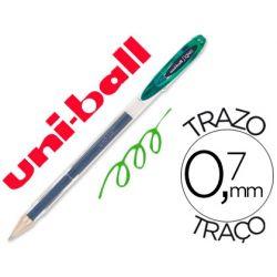 BOLIGRAFO UNI-BALL ROLLER UM-120 SIGNO 0,7 MM TINTA GEL COLOR VERDE