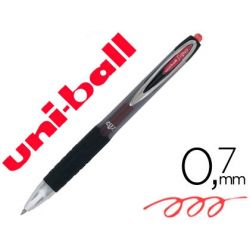 BOLIGRAFO UNI-BALL ROLLER UMN-207 RETRACTIL 0,7 MM COLOR ROJO