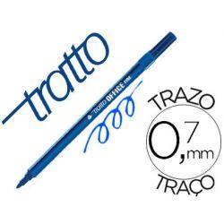 ROTULADOR TRATTO OFFICE FINE PUNTA DE FIBRA TRAZO 0,7 MM AZUL