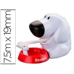 PORTARROLLO SOBREMESA SCOTCH DOGGY C31 DE 19MM X7,5 MT INCLUYE ROLLO DE CINTA MAGIC