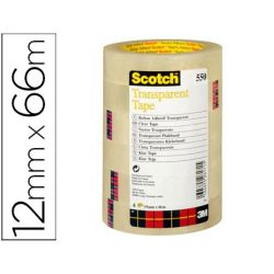 CINTA ADHESIVA SCOTCH TRANSPARENTE 12MMX66 MT