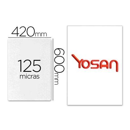 BOLSA DE PLASTIFICAR YOSAN BRILLO 420 X 600 MM 125 MC DIN A2