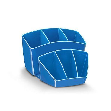ORGANIZADOR SOBREMESA CEP 8 COMPARTIMENTOS PLASTICO AZUL 143X158X93 MM