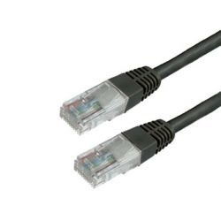 CABLE DE RED MEDIARANGE LONGITUD 2 MT COLOR NEGRO CONECTOR RJ45