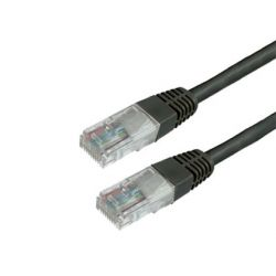 CABLE DE RED MEDIARANGE LONGITUD 1 MT COLOR NEGRO CONECTOR RJ45