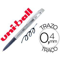 BOLIGRAFO UNI-BALL ROLLER UF-220 BORRABLE 0,7 MM TINTA GEL NEGRO