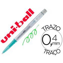BOLIGRAFO UNI-BALL ROLLER UF-220 BORRABLE 0,7 MM TINTA GEL VERDE