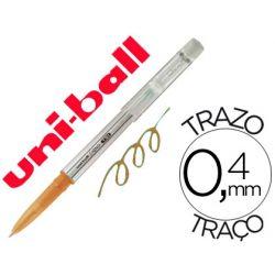BOLIGRAFO UNI-BALL ROLLER UF-220 BORRABLE 0,7 MM TINTA GEL NARANJA