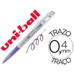 BOLIGRAFO UNI-BALL ROLLER UF-220 BORRABLE 0,7 MM TINTA GEL VIOLETA