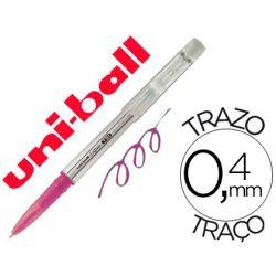 BOLIGRAFO UNI-BALL ROLLER UF-220 BORRABLE 0,7 MM TINTA GEL ROSA