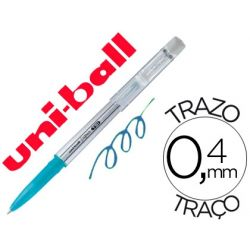 BOLIGRAFO UNI-BALL ROLLER UF-220 BORRABLE 0,7 MM TINTA GEL AZUL CLARO