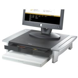 SOPORTE FELLOWES PARA MONITOR TFT OFFICE SUITES AJUSTABLE EN ALTURA CON BANDEJA 100/150X500X364 MM M