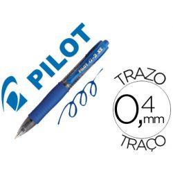 BOLIGRAFO PILOT G-2 PIXIE AZUL TINTA GEL RETRACTIL SUJECION DE CAUCHO
