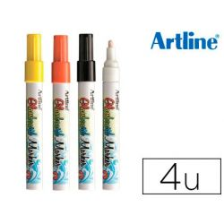 ROTULADOR ARTLINE GLASS MARKER ESPECIAL CRISTAL BORRABLE EN SECO O HUMEDO EXPOSITOR 36 UDS COLORES
