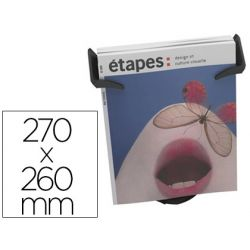 EXPOSITOR SOBREMESA PAPER-FLOW 1 COMPARTIMENTO TAMA¾O DIN A4+ COLOR NEGRO 270X260X155 MM