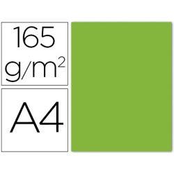 PAPEL COLOR LIDERPAPEL A4 165G/M LIMA PACK DE 9 UNIDADES