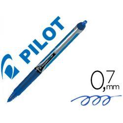 ROTULADOR PILOT PUNTA AGUJA V-7 RETRACTIL AZUL 0.7 MM