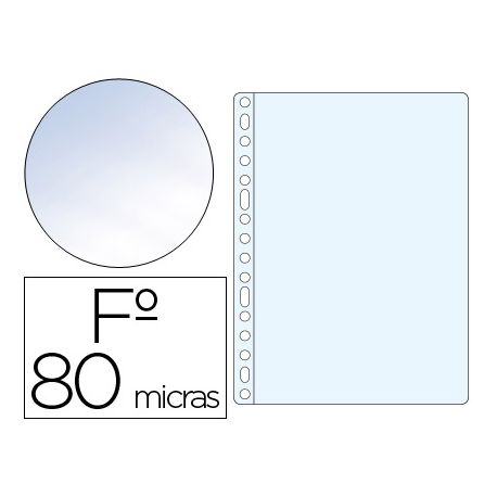 FUNDA MULTITALADRO Q-CONNECT FOLIO 80 MC CRISTAL