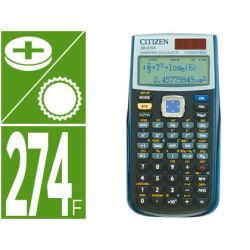 CALCULADORA CITIZEN CIENTIFICA SR-270X COLLEGE 274 FUNCIONES NEGRA