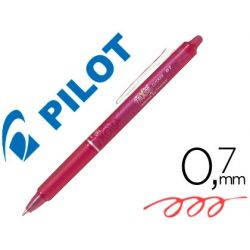 BOLIGRAFO PILOT FRIXION CLICKER BORRABLE 0,7 MM COLOR ROSA EN BLISTER