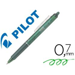 BOLIGRAFO PILOT FRIXION CLICKER BORRABLE 0,7 MM COLOR VERDE LIMA EN BLISTER