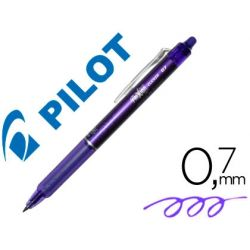 BOLIGRAFO PILOT FRIXION CLICKER BORRABLE 0,7 MM COLOR VIOLETA EN BLISTER