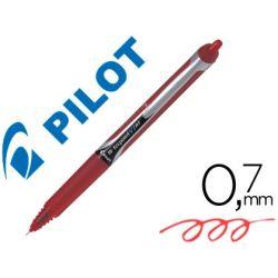 ROTULADOR PILOT PUNTA AGUJA V-7 RETRACTIL ROJO 0.7 MM