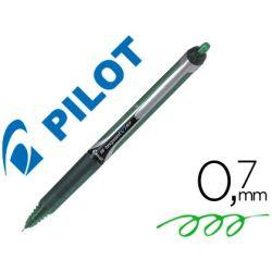 ROTULADOR PILOT PUNTA AGUJA V-7 RETRACTIL VERDE 0.7 MM