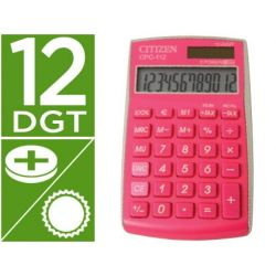 CALCULADORA CITIZEN BOLSILLO CPC-112PKWB 12 DIGITOS FUCSIA SERIE WOW