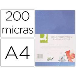 TAPA DE ENCUADERNACION Q-CONNECT PVC DIN A4 INCOLORA 200 MC