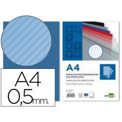 A4 Liderpapel 64099 Pack de 50 tapas de encuadernaci/ón polipropileno ondulado 0.8 mm transparente