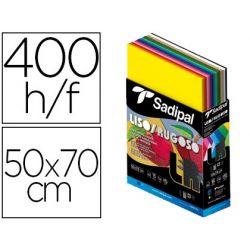 CARTULINA SADIPAL 50X70 CM LISA Y RUGOSA EXPOSITOR CARTON 400 HOJAS SURTIDAS 15 COLORES