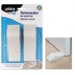 RETENEDOR DE PUERTAS PLICO PLASTICO BLANCO BLISTER DE 2 UNIDADES