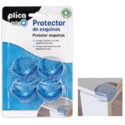 PROTECTOR DE ESQUINAS PLICO PVC TRANSPARENTE BLISTER DE 4 UNIDADES