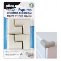 ESPUMA PROTECTORA DE ESQUINAS PLICO GOMA NBR MARRON BLISTER DE 4 UNIDADES