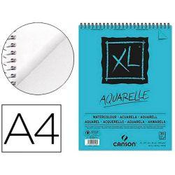 BLOC DIBUJO ACUARELA CANSON XL AQUARELLE GRANO FINO A4 MICROPERFORADO ESPIRAL 21X29,7CM 30 HOJAS 300