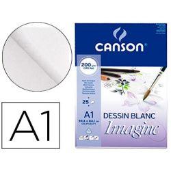 BLOC DIBUJO MULTITECNICAS CANSON IMAGINE DIN A1 ENCOLADO LISO 59,4X84,1 CM 25 HOJAS 200 GR