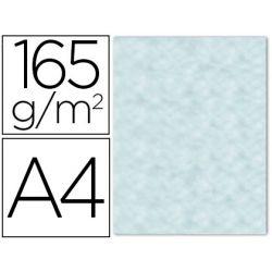 PAPEL COLOR LIDERPAPEL PERGAMINO CON BORDES A4 165G/M2 AZUL PACK DE 25 HOJAS
